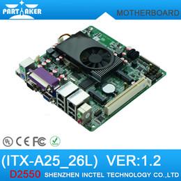 Wholesale Mini Itx industrial motherboard Intel ATOM D2550 with COM ATM Industrial Motherboards POS Machine industrial Mini ITX A25_26L