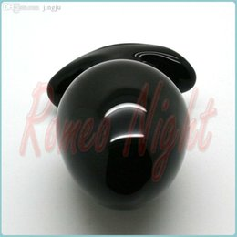 Wholesale Sophisticated Crystal Glass Sexy Toys Great Big Black Anal Glass Toys Crystal Butt Plug Adult Products