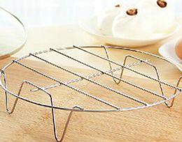 2016 new Stainless steel steam rack(diameter 20 cm,8 inch)round steaming Steaming rack cooking rack wire rack