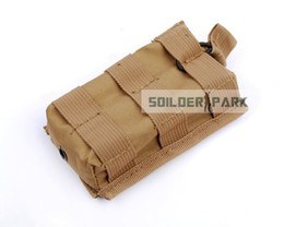 Wholesale Military Tactical Open Top Single M4 Magazine Pouch Airsoft Paintball Hunting M4 Magazine Gear Case Bag Color order lt no tr
