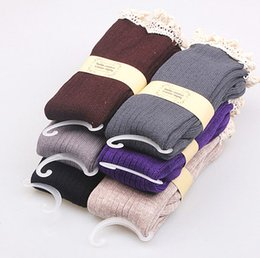 Women's Lace Knee Socks with 80% Cotton Boot Socks For Women