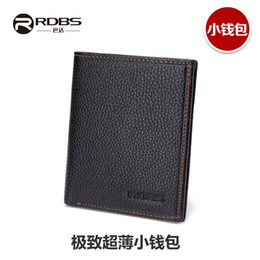 Wholesale Mini thin leather small wallet men s short wallet purse authentic Korean street fashion driver s license soft cowhide leather