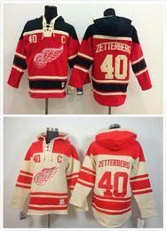 2016 New, Free Shipp. Detroit Red wings Hoody #40 Henrik Zetterberg Ice Hockey Hoodies  Hooded Sweatshirt