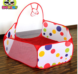 Wholesale Children Kids Play Tents Foldable Kids Children Ocean Ball Pit Pool Game Play Toy Tent With a Shooting Basket