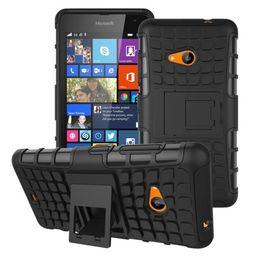 Wholesale Para la caja Nokia Lumia híbrido TPU duro a prueba de golpes en con el soporte de funciones Contraportada casos