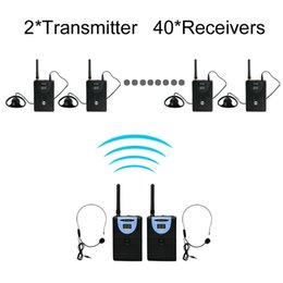 Wholesale TP WIRELESS GHz Digital Wireless Tour Guide System Wireless Translation System for Train Visit Tourism transmitter and receivers