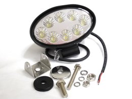 24W Flood Spot Beam Offroad LED Work Light Truck Boat Camping DC 12V 24V LED Working Light Off Road Driving