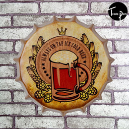 Wholesale 35 cm Round BOTTLE WHISKEY Tin Sign Metal Poster Wall Decor Fit For BAR CLUB Hanging