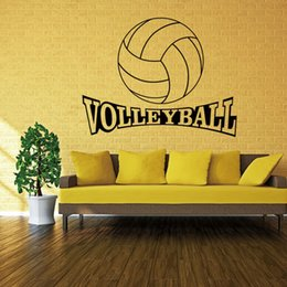 42*72cm Volleyball Vinyl Wall Decal Stickers for kids Sport Boy bedroom Art Wall Home Decor Wallpapers Environmental Protection