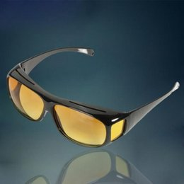 Wholesale-HD Yellow Lenses Polarized Sunglasses Night Vision Goggles Car Driving Driver Glasses Eyewear UV Protection