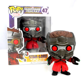 Free shipping Marvel Hot Toys 10cm Funko PoP Star-Lord figure Toy Guardians Of The Galaxy Vinyl Toys Christmas gift Birthday gift