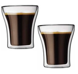 Wholesale Set of high quality double wall Bodum Assam glass cup mug for tea espresso coffee wine ML