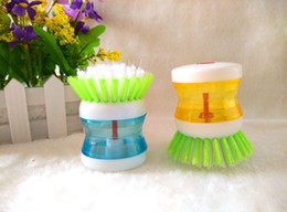 Wholesale Creative home kitchen clean appliance automatic liquid brush brush pot is washing the dishes Practical brush pot brush