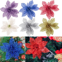 Wholesale Cost effective Christmas Tree Artificial Flowers Decorations Glitter For Xmas Party Home Decor