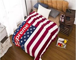 Wholesale Brand Supreme Fleece Blanket American Flag Blanket Soft Warm Throw Blanket on the bed sofa cm