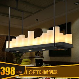 Wholesale American Village Candle LED chandelier vintage wrought iron chandelier light engineering industries Restaurant Bar Creative Ligh