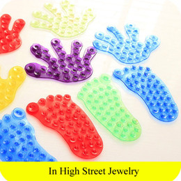 Wholesale New Arrival Strong Magic Plastic Sucker Bathroom Double Sided Suction Palm Foot PVC Suction Cup Holder Accessories
