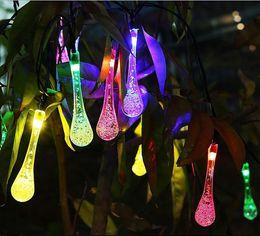Wholesale Christmas Light led LED RGB Solar led strings energy Bubble Rain Ball lamp tube light Xmas Wedding Party Holiday decor lamps LED Light