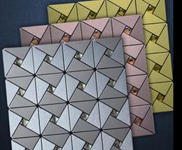 Wholesale Building materials construction tile wall tiles Metal mosaic tile modern design wall tiles home decoration mosaic tile pattern copper tile