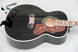 Custom Black 43# acoustic guitar Black 200 Acoustic Guitar guitar Factory guitars from china Free shipping