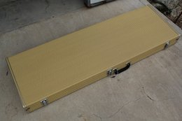 Wholesale Rectangular Electric Guitar Bass Cases and the Inner Plush can be Made into Different Colors