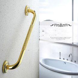 Non-slip Handle bathroom bathtub Grab Bars Continental carved golden full copper bathroom safety Handrail elderly