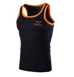 Wholesale 2016 spring hot sale men s pullpver sleeveless Vest leisure outdoor movement Vest eagle embroidery Hit color