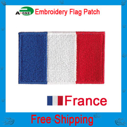 New 10PCS Sewing Craft france Flag Patches For Clothes Embroidered Iron Sew Badges Applique Jeans Jacket Bag Decor