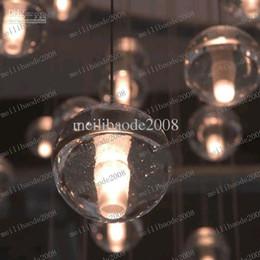 2017 pendeloques de cristal LLFA100 G4 LED Crystal boule en verre Suspension Meteor Rain plafonnier météorique Douche Stair Light Chandelier Lighting peut être obscurci pendeloques de cristal à vendre