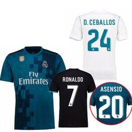 Thai quality 2018 Away black Real Madrid Soccer Jersey 17 18 CR7 soccer shirt Ronaldo Bale Football uniforms Asensio SERGIO RAMOS sales