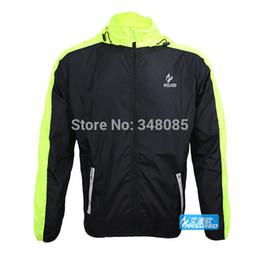 Gros-Arsuxeo plein air Vélo Manteau de course / Super Light Thin Waterproof Prevent Bask dans la protection Uv séchage rapide Rain Jacket à partir de veste de cyclisme mince imperméable fabricateur