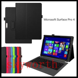 Wholesale Flip Stand Folio PU Leather Wallet Case Smart Cover For Microsoft Surface3 Surface pro inch inch Tablet PC