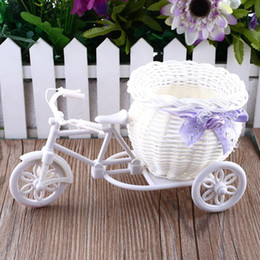 Tricycle Bike Design Flower Basket Storage Container For Flower Plant Home Party