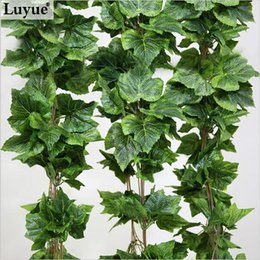 Wholesale Real artificial Plant Silk grape leaf scrapbooking garland faux rattan vine Ivy home decor wedding flower christmas gift FZH068
