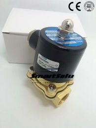 Wholesale DC V quot mm Pore Pneumatic Solenoid Water Valve W160 Brass Valve