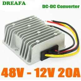 Dc convertisseur 12v 48v en Ligne-Waterproof DC DC Réducteur Convertisseur 48V à 12V 20A Buck Module Régulateur de convertisseur de puissance voiture