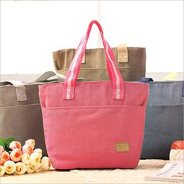 Wholesale 2015 Environmentally Friendly Linen Thick Aluminum Film Lunch Insulation Bags lunch bag Lunch Bags Insulation Ice Pack