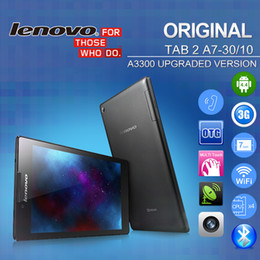 Wholesale Original Lenovo Tablet TAB A7 A7 WiFi G A3300 Upgrade Phone Call MTK8382M Dual Camera MP Android GB