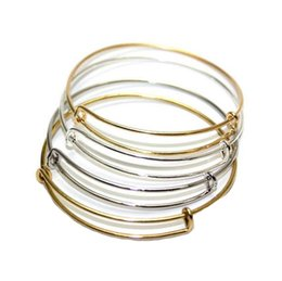 Wholesale Alex and Ani Bracelets Gold Silver Plated Copper Expandable Wire Bangles For Beading Charm Ladies Girls Fashion Jewelry Valentine Gift Y12