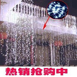 Wholesale-6*3m 600 LED Led waterfall light, Led waterfall lamp,led decoration light- free shipping