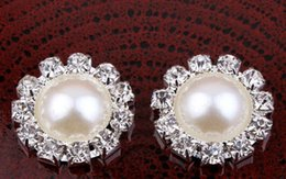 Wholesale 10 OFF MM Factory Price Vintage Silver Plated Alloy Crystal Rhinestone Pearl Button For Baby Girl Jewelry Accessory drop shippi