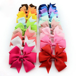 200pcs NEW baby grosgrain Satin Dovetail Ribbon Hair Pin wheel Bows with Duckbill clip Girls' hair accessories boutique bows