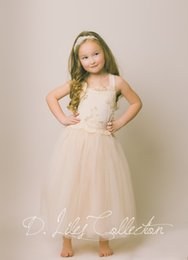The Evangeline - Blush, Ivory, chiffon, lace, tulle, Flower Girl Dress, girls toddler dress, ages 1T, 2T,3T,4T, 5T, 6, 7, 8, 9 10, 11 12