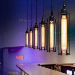 Nordic American industrial pendant lights warehouse style restoring ancient Alcatraz single head droplights