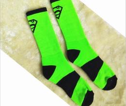 Wholesale Mens Socks Basketball Socks New Towel Bottom Thickened Terry Sports Male Running Tall High Quality Superman Logo Elite Winter Cotton Blend