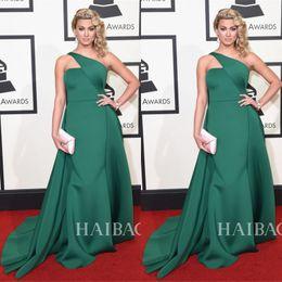 Elegant One Shoulder Formal Celebrity Dresses 2019 Ruffles Dresses Evening Wear Red Carpet Dress New Tori Kelly The 58th Grammy Awards