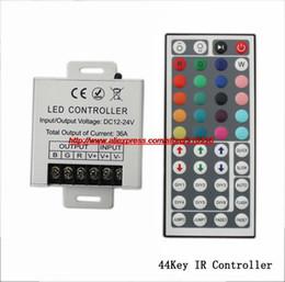 Wholesale-30A 12V 360W High Power 44Key 28Key 24Key RGB Remote Controller for rgb led strip