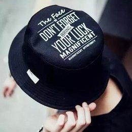 Wholesale-2015 fashion 100% cotton bucket cap Double cap letter printed STRIPE TOP HAT outdoor fisherman cap ADULT SIZE cap