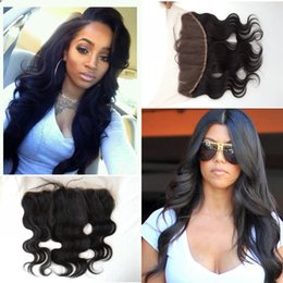Cheap Brazilian Lace Frontal Closure Virgin Human Hair 13x4 Full Frontal Lace Closure Ear To Ear Lace Frontals With Baby Hair G-EASY