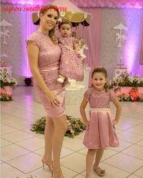 Descuento vestidos formales para la hija de la madre 2016 vestidos de partido cortos del baile